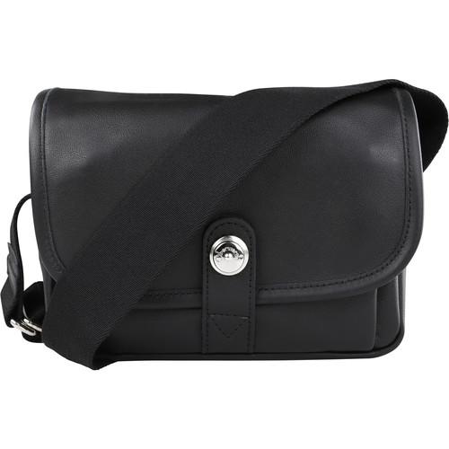Oberwerth Boulevard Mini Leather Photo Bag (Black Lining/Red Insert)