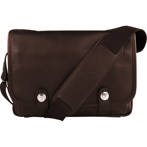 Oberwerth Boulevard Tablet Leather Photo Bag (Dark Brown)