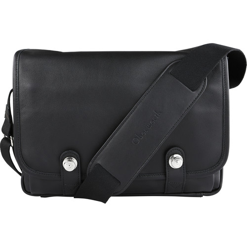 Oberwerth Boulevard Tablet Leather Photo Bag (Black Lining/Red Insert)