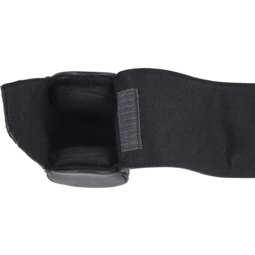 Oberwerth Donau Cowhide Leather Lenswrap (Small, Black)