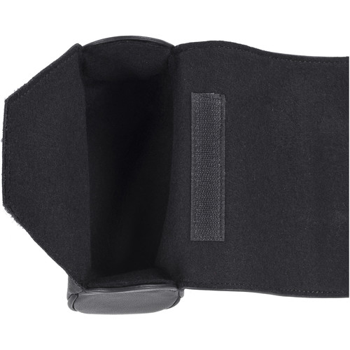 Oberwerth Donau Cowhide Leather Lenswrap (Extra Large, Black)