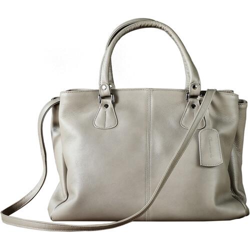 Oberwerth Ladies' shopper EVE Leather Camera Hand Bag (Basalt)