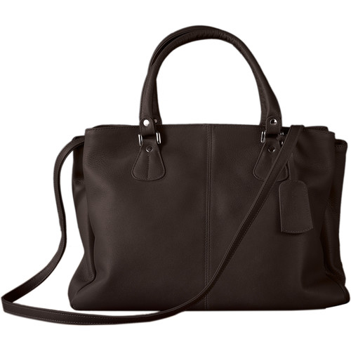 Oberwerth Ladies' shopper EVE Leather Camera Hand Bag (Dark Brown)