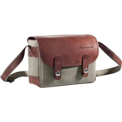 Oberwerth Freiburg Small Camera Bag (Olive/Dark Brown)