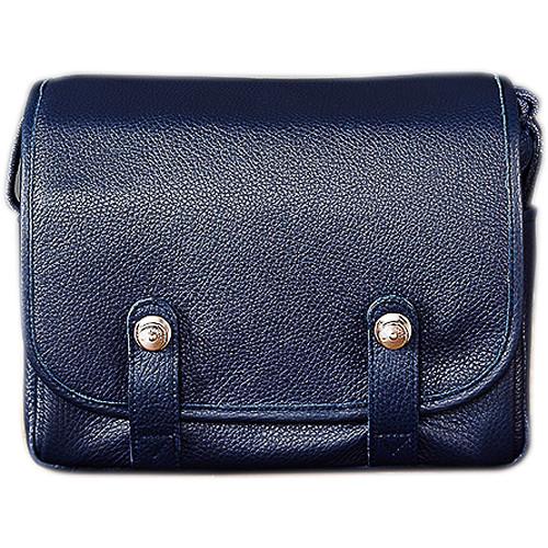 Oberwerth Harry & Sally Leather Shoulder Camera Bag (Navy Blue)