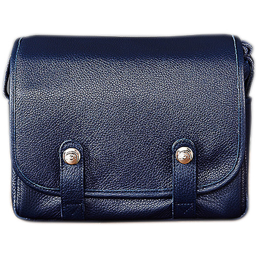 Oberwerth Harry & Sally Leather Shoulder Camera Bag (Navy Blue)