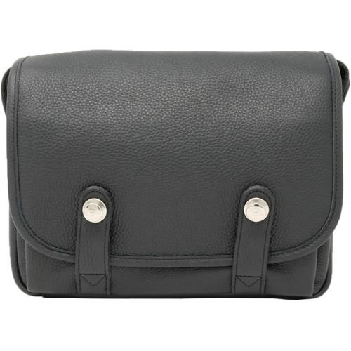 """Oberwerth Harry & Sally Leather Shoulder Camera Bag (Black with """"L"""" Red Insert)"""