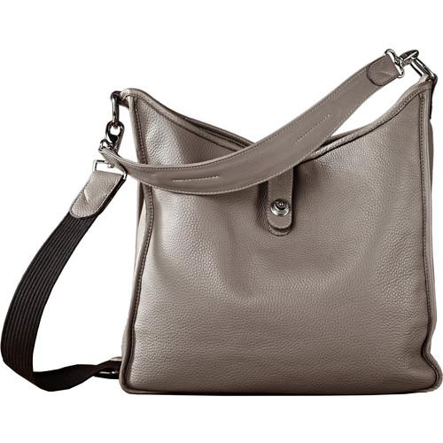 Oberwerth Kate Multi-Functional Basalt Leather Ladies Bag (Dark Gray, Silver Fastenings & Buttons)