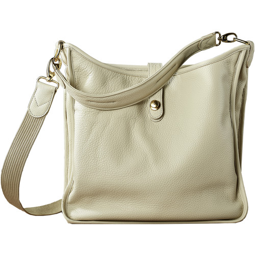 Oberwerth Kate Multi-Functional Ivory Leather Ladies Bag (Beige, Gold-Plated Fastenings & Buttons)