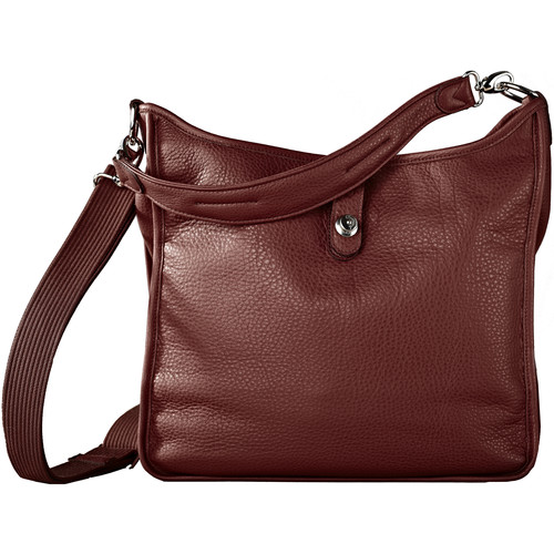 Oberwerth Kate Multi-Functional Nougat Leather Ladies Bag (Light Brown, Silver Fastenings & Buttons)