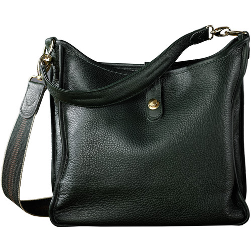 Oberwerth Kate Multi-Functional Oxford Leather Ladies Bag (Green, Gold-Plated Fastenings & Buttons)