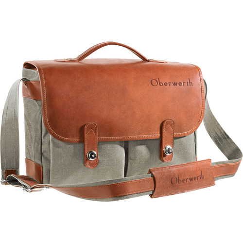 Oberwerth Munchen Large Camera Bag (Olive/Light Brown)
