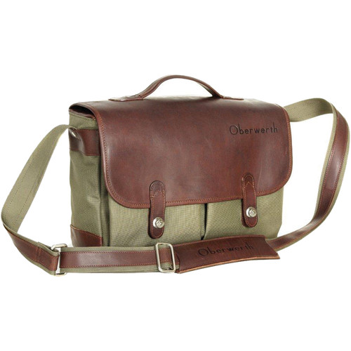 Oberwerth Munchen Large Camera Bag (Olive/Dark Brown)