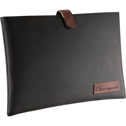"Oberwerth 13"" Notebook Sleeve (Black/Dark Brown)"