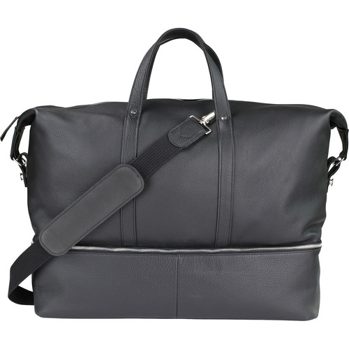 """Oberwerth Weekender Nelson L Camera Bag (Black with """"L"""" Red Insert)"""