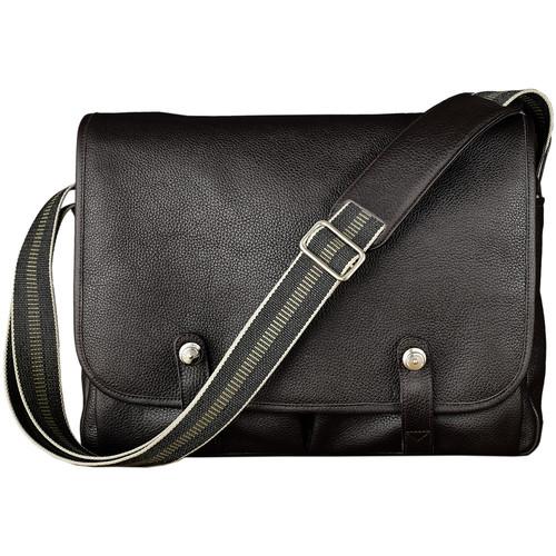 Oberwerth Richard Leather Messenger and Camera Bag (Dark Brown)