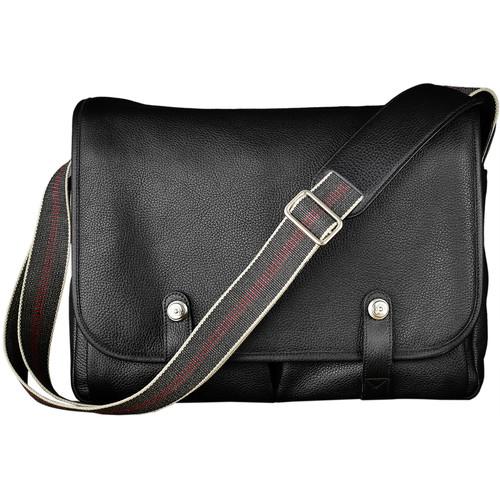 Oberwerth Richard Leather Messenger Camera Bag (Black)