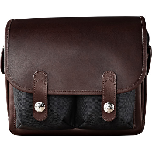 Oberwerth Wetzlar Small Camera Bag (Black/Dark Brown)