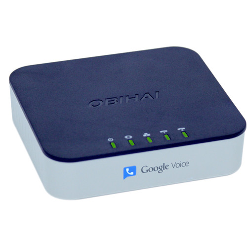 Obihai Technology OBi202 VoIP Phone Adapter with Router, 2-Phone Ports, and T.38 Fax Connections