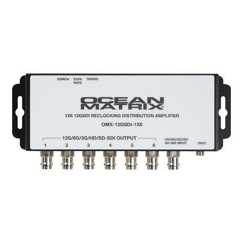 Ocean Matrix 12G-SDI UHD 1x6 Reclocking Distribution Amplifier