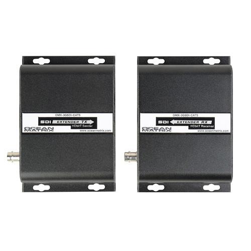Ocean Matrix 3G-SDI Extender Kit over IP via Single UTP CAT5e/6e/7 (394')