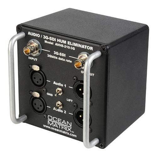 Ocean Matrix Single Channel 3G-SDI Video & 2-Channel XLR Audio Hum Eliminator