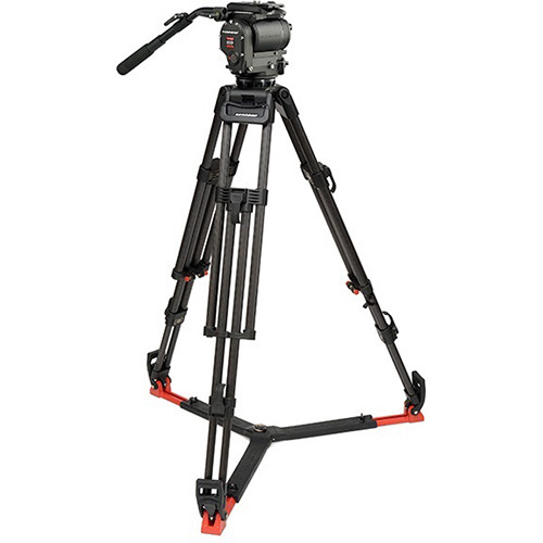 OConnor Ultimate 1030D Fluid Head & 30L CF Tripod with Floor Spreader & Case