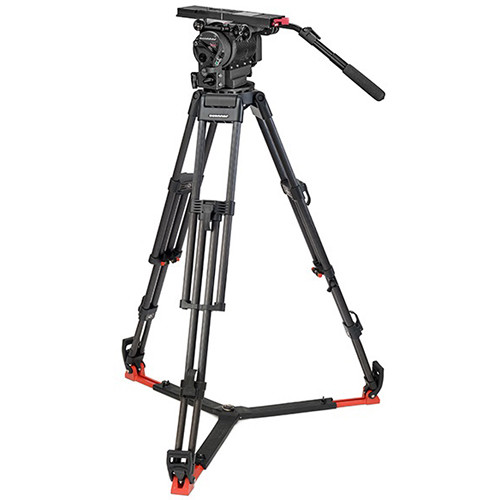 OConnor Ultimate 2560 Fluid Head & 60L Mitchell Top Plate Tripod with Floor Spreader