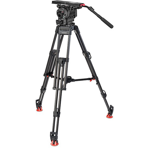 OConnor Ultimate 2560 Fluid Head & 60L Mitchell Top Plate Tripod with Mid-Level Spreader