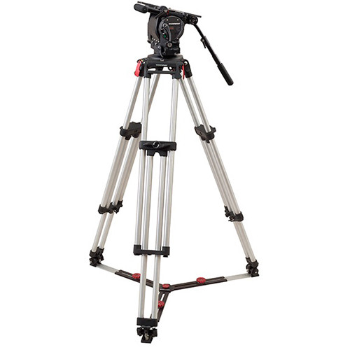 OConnor Ultimate 2575D Head & Cine HD Mitchell Top Plate Tripod System with Floor Spreader