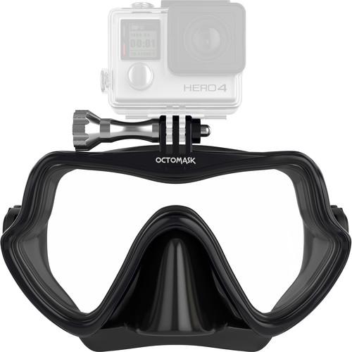 OCTOMASK Frameless Scuba Mask for GoPro Camera (Black)