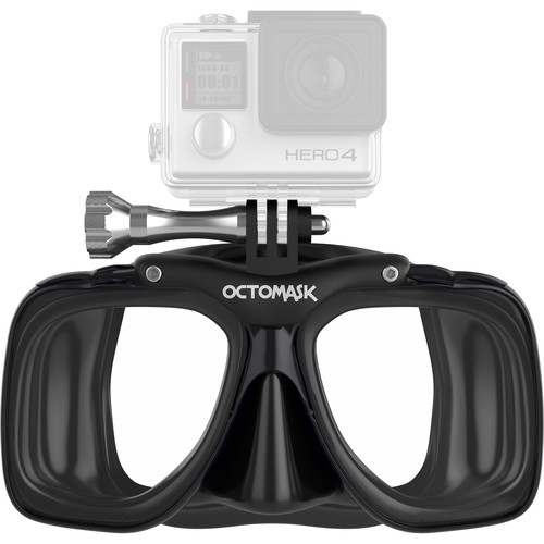 OCTOMASK Scuba Mask for GoPro Camera (Black)