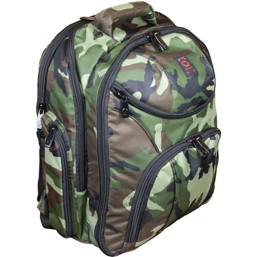 Odyssey Innovative Designs Backspin 2 DJ Backpack (Green Camouflage)