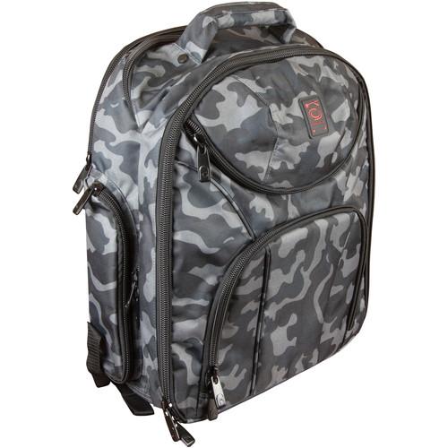 Odyssey Innovative Designs Backspin 2 DJ Backpack (Gray Camouflage)