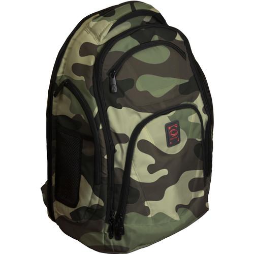 Odyssey Innovative Designs Backtrak XL DJ Gear Backpack (Green Camouflage)