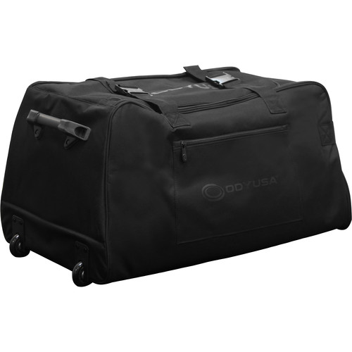 "Odyssey Innovative Designs BRLSPKLHW Redline-Series Large Sized Trolley Bag for 15"" Molded Speakers w/ Handle and Wheels (Black)"