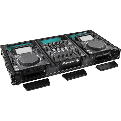 Odyssey Innovative Designs Flight FX Series Universal CD/Media Player DJ Coffin with Wheels (Black)