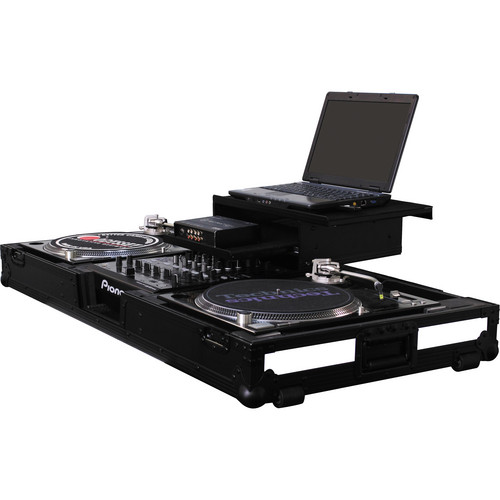 "Odyssey Innovative Designs Flight FX3 - 3 LED Panel Glide Style DJ Coffin for 2 Turntables in Battle Mode & 12"" Mixer"