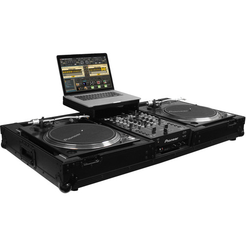 "Odyssey Innovative Designs Flight FX Glide-Style DJ Coffin for 10"" Format Mixer & Two Turntables"
