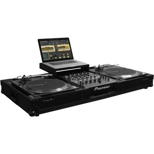 "Odyssey Innovative Designs Flight FX Low Profile Glide-Style DJ Coffin for 12"" Format Mixer & Two Turntables"