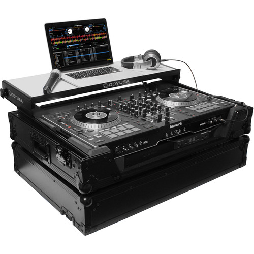 Odyssey Innovative Designs Flight FX Series Numark NS7/NS7-II DJ Controller Glide Style Case with Wheels
