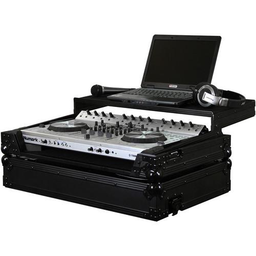 Odyssey Innovative Designs Black Label Flight Zone Numark 4TRAK DJ Controller Glide Style Case (Chrome and Black)