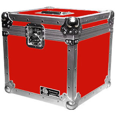 """Odyssey Innovative Designs Record/Utility ATA Case for 100 12"""" LP Vinyl Records (Red)"""