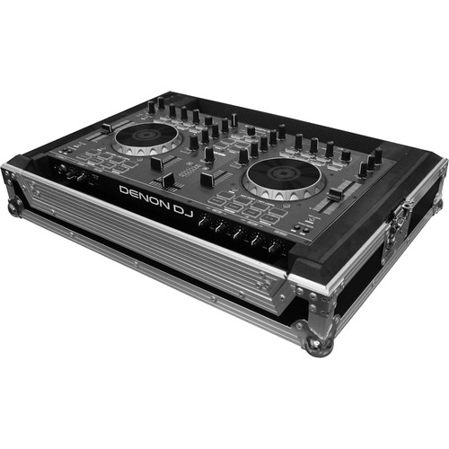 Odyssey Innovative Designs Limited Edition Flight Ready Case with Bottom Laptop Compartment for Denon DN-MC4000 DJ Controller
