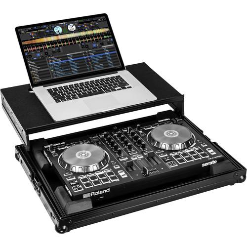 Odyssey Innovative Designs Black Roland DJ-202 Case with Glide Platform