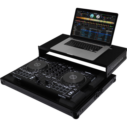 Odyssey Innovative Designs Black Label Low Profile Glide Style Case for Roland DJ-202 Serato DJ Controller (All Black)