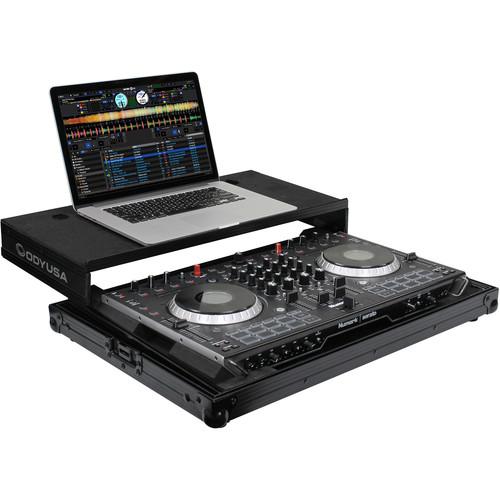 Odyssey Innovative Designs Black Label Low Profile Glide Style Case for Numark NS6II DJ Controller