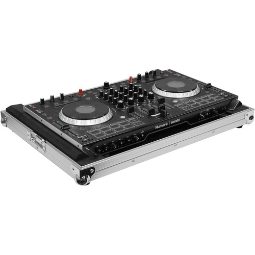 Odyssey Innovative Designs Flight Ready Low-Profile Case for Numark NS6II DJ Controller