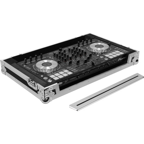 Odyssey Innovative Designs Flight Case with Removable V-Cut Front Panel for Pioneer DDJ-RX/SX/SX2 DJ Controller