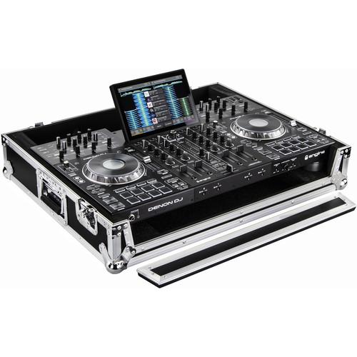 Odyssey Innovative Designs Flight Ready Series Hard Case for Denon Prime 4 DJ Controller (Silver and Black)